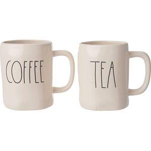 Rae Dunn Tea and Coffee Mugs- Set of 2 - NIB
